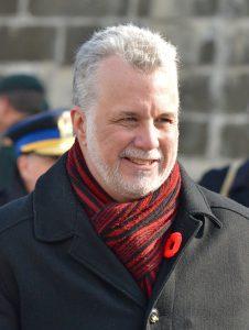 Quebec Premier Philippe Couillard in passing Bill 62