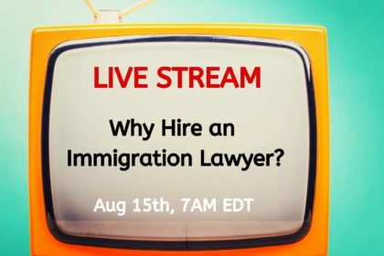 Immigration.ca – Live Stream Series – Thursday August 15, 2019